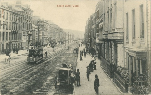 CCY- Cork, South Mall, Ireland, postcard, lawrence